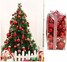 Asdomo Christbaumkugel-Ornament-Set, 50 Stück,
