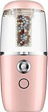 ASDYO Mini USB Auto Luftbefeuchter Anionen-Ergänzung Luftreiniger,Pink-122*52*30mm