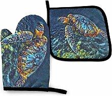 Asekngvo Aquarelle Meeresschildkröte C Vintage