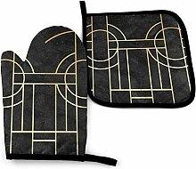 Asekngvo Art Deco Clan aus schwarzem Marmor Ramsay