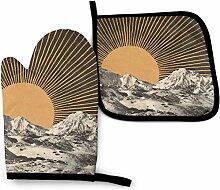 Asekngvo Mountainscape Mosaic 1 Küchenofen Mitt