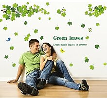 asenart grün Falling Ahorn Blätter abnehmbar DIY Tapete Living Room Home Decor Größe 111,8x 172,7cm