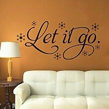 asenart Let it go mit Schneeflocken abnehmbarer Tapete für Wand Fenster HOME DECOR Größe 30,5x 66cm