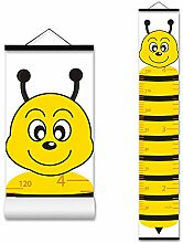 ASENART Messlatte für Kinder, Holzrahmen, Stoff,