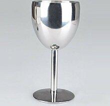 asentechuk® 1180ml Edelstahl Wein Glas Trinkbecher Champagner kelch-Küche Tools Party Restaurant Supplies