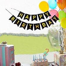 AsentechUK® Buntes Happy Birthday Banner Party