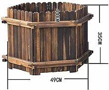 ASF15 Blumentopf/Übertopf - Holz Trough Pflanzer