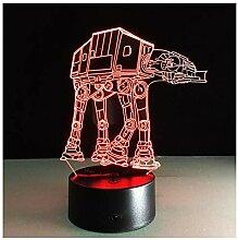ASHENG 3D Nachtlicht Tod Star Wars Lampe USB 7