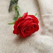 Ashui Künstliche Fake Rosen Flanell Blume Seide