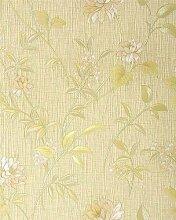 Asia Tapete EDEM 751-33 Asiatischetapete Deluxe Asia Floral Blumentapete pastell gelb olive rosa