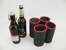 asiahouse24 4er Set schwarz Getränkekühler 0,5l