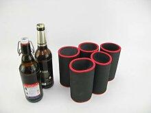 asiahouse24 5er Set schwarz Getränkekühler 0,5l