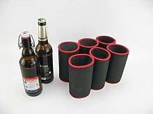 asiahouse24 6er Set schwarz Getränkekühler 0,5l