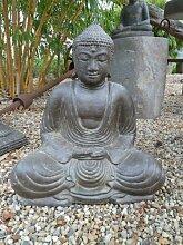 Asiastyle P ‐ SB7‐ 040af Japanische sitzender Buddha Skulptur, 40cm, grau, 30x 30x 40cm