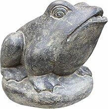 Asiastyle Sitzender Frosch, Steinguss als