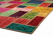 Asiatic Reform Multi Patchwork Teppich 100% Wolle