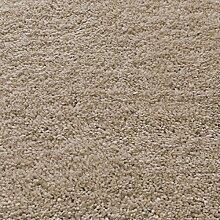 Asiatic Teppich Wohnzimmer Carpet hochflor Design DRIFT SHAGGY UNI RUG 100% Polypropylen 240x340 cm Rechteckig Beige | Teppiche günstig online kaufen