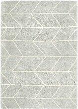 Asiatic Teppich Wohnzimmer Carpet hochflor Design LOGAN WEB UNI RUG 100% Polypropylen 120x170 cm Rechteckig Grau | Teppiche günstig online kaufen