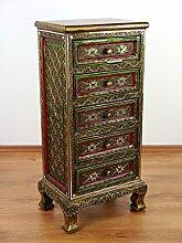 Asiatische Kommode im Glasmosaik-Look, Schrank, Asien (Thailand, Bali, Indonesien) Möbel (H:95cm B:44cm T:32 Nr. 95)