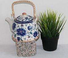 Asiatische Teekanne 01 aus Keramik mit Teesieb und