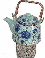 Asiatische Teekanne 02 aus Keramik mit Teesieb und