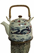 Asiatische Teekanne 05 aus Keramik mit Teesieb und