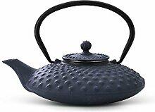 asiatische Teekanne Gusseisen Jing 0,8 ltr. blaue
