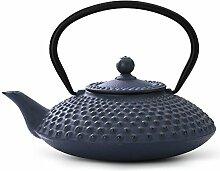 asiatische Teekanne Gusseisen Jing 1,25 ltr. blaue