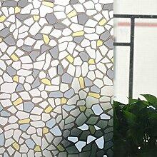 ASIBG Home Glas Film Fenster Aufkleber Bad Fenster Aufkleber Transparent Milchglas dekoratives Papier, matt, Sonnenschutz Folie Isolierung Fenster 0,9 M * 2 M, kleiner Stein