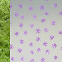 ASIBG Home Glas Film Fenster Aufkleber Bad Fenster Aufkleber Transparent Milchglas dekoratives Papier, matt, Sonnenschutz Folie Isolierung Fenster 0,9 M * 2 M, Viole