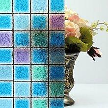 ASIBG Home Kein Leim elektrostatische Glas Film von Super dicken transparenten Glas Fenster Badezimmer undurchsichtigen Sonnenschutz Aufkleber, 60 Cm*1 M