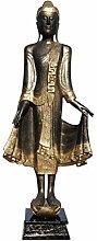 Asien Lifestyle 168 cm große Holz Buddha Figur