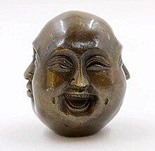 Asien Lifestyle (6cm) großer Happy Buddha Kopf