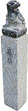 Asien Lifestyle Asiatische Drachen Pagode Naturstein Stele China für Asiengarten