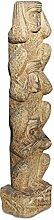Asien Lifestyle Asiatische Garten Stele - Säule 3 Affen Naturstein Pagode, China