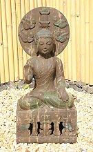 Asien Lifestyle Garten Buddha Statue aus Stein,