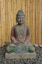 Asien Lifestyle Garten Buddha Statue Natur Stein,