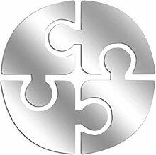 Asir Group LLC 234DSR1163 Dekorativ Spiegel OA0000016083, silber