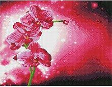 ASJFF 5D Quatratisch Blumenbild Diamant Mosaik