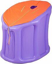ASL Badewanne aufblasbare Fold Plastik dicker halten wärmen sich erwärmen Baden Hause Badezimmer Sauna Box Dampfbad Bad Fässer Baden Pool Beauty Bad Box Neu ( Farbe : Lila )