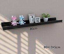 ASL Bracket, Ländlich Kreativ Einfache Schlafzimmer Wohnzimmer Study Frame Trennwand Wand Regal Rahmen Qualität ( Farbe : B , größe : 80cm )