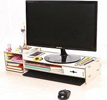 ASL Büro-Computer erhöhte Rahmen-Schreibtisch-Regal-Fach-Fach-Regal Qualität ( Farbe : C )