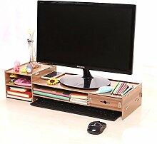 ASL Büro-Computer erhöhte Rahmen-Schreibtisch-Regal-Fach-Fach-Regal Qualität ( Farbe : D )