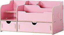 ASL Büro-Multifunktionsaufbewahrungsbehälter-kosmetisches Vollendenregal-Regal Qualität ( Farbe : Pink )