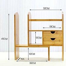ASL Büro Schreibtisch Bücherregal Computer Teleskoprahmen Bücherregal Student Regal Büro Storage Rack Qualität ( Farbe : C )