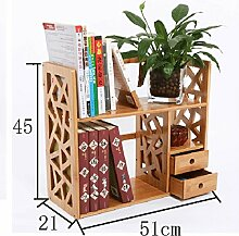 ASL Büro Schreibtisch Kleine Bücherregale Regal Student Bücherregal Regal Storage Rack Qualität ( Farbe : A )