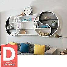ASL Dekoration Regal, kreatives Faserplatten Schlafzimmer Wohnzimmer auf der Wand Regal Bücherregal Trennwand Wand Regal Klatsch mehr Modellierung Wand hängen (nicht inklusive Zubehör) Qualität ( größe : D )