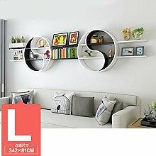 ASL Dekoration Regal, kreatives Faserplatten Schlafzimmer Wohnzimmer auf der Wand Regal Bücherregal Trennwand Wand Regal Klatsch mehr Modellierung Wand hängen (nicht inklusive Zubehör) neu ( größe : L )