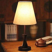 ASL Einfache moderne Holz Kreative Mode Nachtlampe Tischlampe Schlafzimmer Nacht Hochzeit Wohnzimmer-Dekoration Tischlampe Neu ( Farbe : Beige )