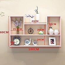ASL Einfache Wand Rahmen Regal Schrank Wohnzimmer Balkon Schlafzimmer Küche Incorporated Regal Wand Hängende Zubehör Hängende Schrank Bücherregal Moderne Dekoration neu ( Farbe : #3 )